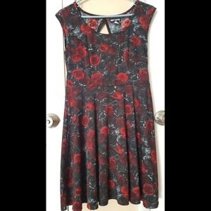 Hot Topic Floral Skater Dress